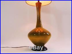 Large Mid Century Danish Style Modern Ceramic Table Lamp vtg Eames Era