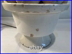 Large Mid Century Spanish Manises garlic Table Lamp, refurbished, Casa Pupo