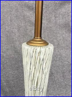 Large Murano Barovier Toso 35inch Gorgeous Mid Century Glass Table Lamp
