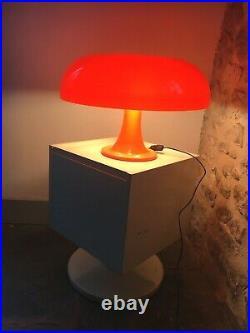Large Orange Iconic Nesso Mushroom Retro 60s Mid Century Style Table Lamp MINT