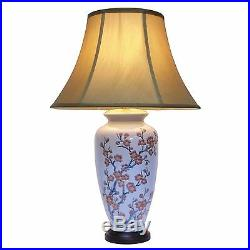 Large Oriental Ceramic Porcelain Table Lamp (M11121) Chinese Mandarin Style