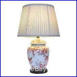 Large Oriental Ceramic Porcelain Table Lamp (M11487) Chinese Mandarin Style