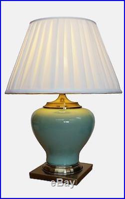 Large Oriental Ceramic Porcelain Table Lamp (M15010GN) Chinese Mandarin Style