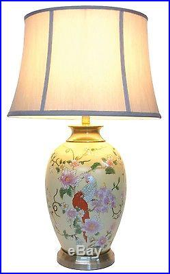 Large Oriental Ceramic Table Lamp M11055 Chinese Mandarin Style For Any Room