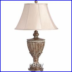 Large Ornate Traditional Table Lamp Urn style Antiqued Bronze Base Shabby Chic