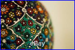 Large Persian unique handmade traditional colorful ceramic artistic table Lamp