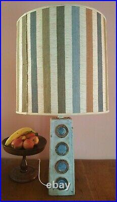 Large Retro Vintage MID Century Ceramic Lamp Base Troika Style But Unmarked