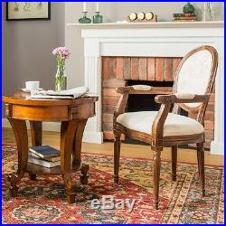 Large Round Coffee Table Vintage Antique End Wooden Side Furniture Lamp Stand