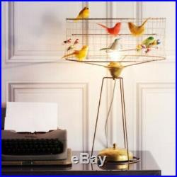 Large Unique La Voliere Tambour Birdcage Table Lamp/Twitchers/Bird Lovers
