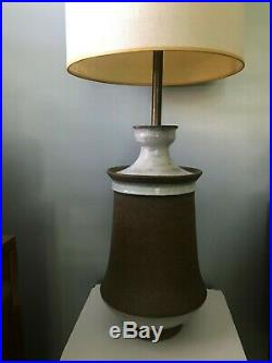 Large Vintage Bitossi Raymor Aldo Londi Ceramic Pottery Glazed Table Lamp Italy