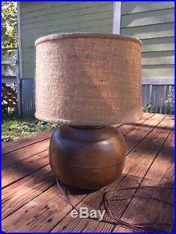 Large Vintage Hand Hammered Copper Table Lamp Van Erp Style Arts & Crafts Nice