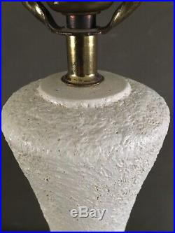 Large Vintage Mid Century Table Lamp Atomic Leaf Design