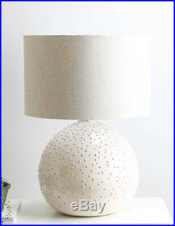 Large White Cox And Cox Lamp And Shade