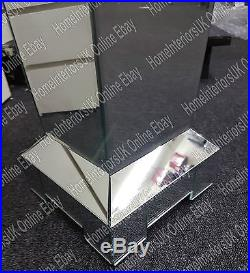 Large bevelled mirror pedestal/telephone or lamp side table
