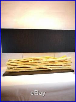 Large handmade driftwood table lamp 80 X 25 X 45 cm