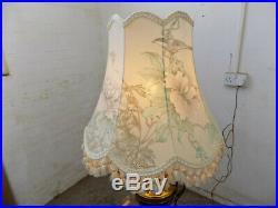 Large, ornate, vintage, 1930's, table lamp, vase, urn, brass, plinth, table, lamp, light