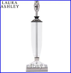 Laura Ashley Carson Large Table Lamp Polished Nickel Glass Base Only NEW RRP£125