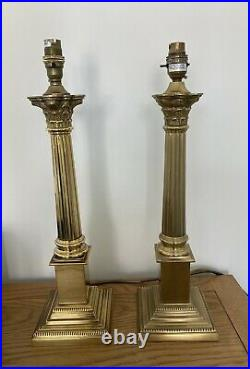 Laura ashley Large Corinthian Lamp Pair