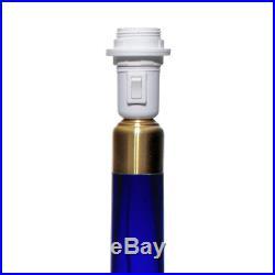 Le Klint / Holmegaard Large Cobalt Blue Glass Model 302 Table Lamp Danish