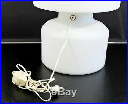 Mid Century Modern Large White Murano Glass Table Lamp 1970s Italy