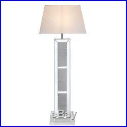 Milano Mirror Brick Large Standard Standing Floor Lamp Home Office Lounge Light