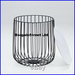 NEW Furniture LivingRoom Black or Gold Cage Coffee Lamp Table Top Marble or Oak