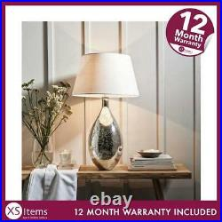 NEW The White Company Large Mercury Table Silver Lamp Home Lighting RRP £180