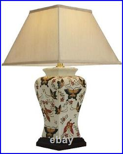 NOW £30 OFF Genuine Chinese Ceramic Porcelain Butterfly Table Lamp (M9955)