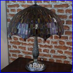 New LARGE 18Diameter Tiffany Stained Glass Table Lamp Moroccan Mosaic Hand Made
