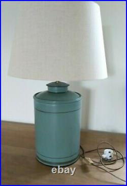 OKA Camellia Large Hand-Painted Table Lamp Sage Green Collection Shropshire