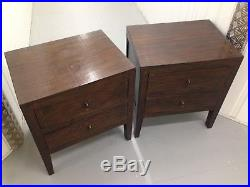 Pair Lombok Solid Teak Large Bedside Cabinets sofa Lamp Tables drawers RRP£990