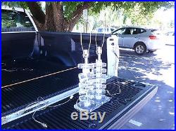 Pair Of 70's Large Stacked Lucite Table Lamps P