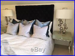 Pair Of Brand New RV Astley Aero Large Table Lamps Chrome And Off White RRP660