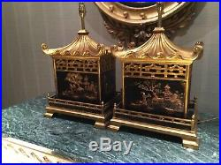 Pair Of Fabulous Large Chinoiserie Temple, pagoda Table Lamps