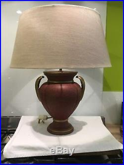 Pair Of Large Vintage Classical Urn Ceramic Table Lamps