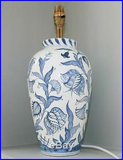 Pair Of Stunning Large Hand-painted, Deborah Sears Oxford, Table Lamps 15