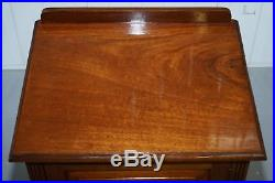 Pair Of Very Large Oversized Solid Mahogany Bedside Or Side Lamp Table Cupboards