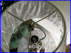 Pair Ralph Lauren Large Silver Candlestick Table Lamps. Full Height 30in