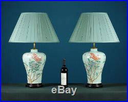 Pair of Large Chinese Vase Table Lamps c. 1960