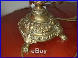Pair of Vintage large Ornate Design Solid Brass, Table Lamps Laura Ashley