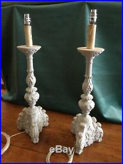 Pair of large table lamps In French Grey