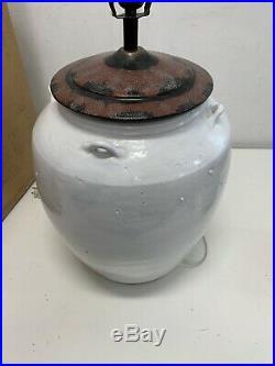 Pottery Barn Courtney Ceramic Table Lamp Base Ivory LARGE 29 (No Shade) $220