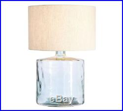Pottery Barn Mallorca Large Table Lamp Base, Recycled Glass, New In Box, 27.5