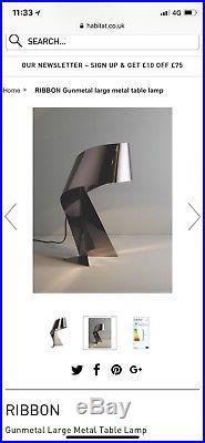 RIBBON Gunmetal Large Table Lamp X2
