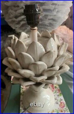 RRP£142 SOLD OUT Large Pooky Artichoke artur table lamp BASE stone crackle glaze