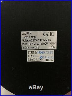 Ralph Lauren Lanp And Shade Large Oriental Dragon Porcelaine Blue White New