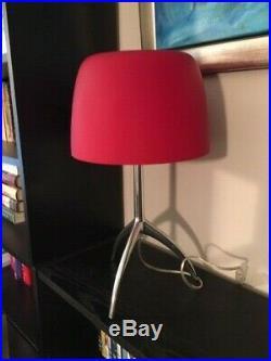 Rare, Beautiful Red Matt-finish Foscarini Lumiere Large Murano Glass Table Lamp