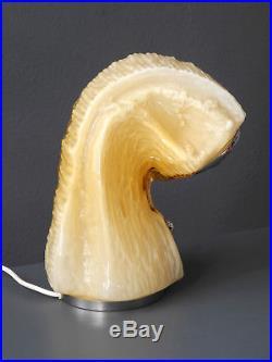Rare large 60s Carlo Nason Mazzega organically shaped Murano glass table lamp