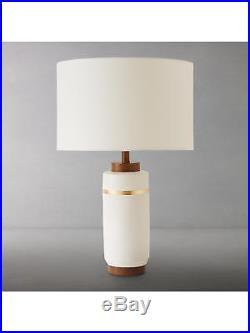 Roar + Rabbit for west elm Crackle Glaze Table Lamp, Large, White +shade