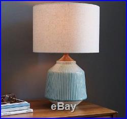 Roar + Rabbit For West Elm Ripple Large Ceramic Table Lamp, Turquoise RRP  £149